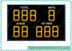 Cricket Bat Sports Scoreboard