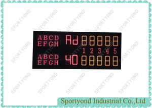 Singles and Doubles Player Display Tennis Court Scoreboard