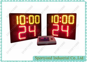 Electronic Basketball Shot Clock Game Time and 24 Seconds