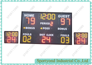 Wireless Basketball Scoreboard and Shot Clock