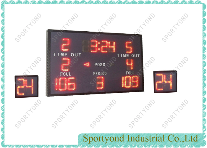 LED Basketball Scoreboard and 24 Sec Attack Clock