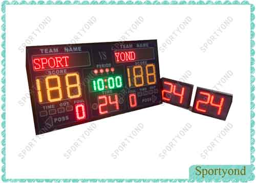 Electronic Basketball Scoreboard and Shot Clock