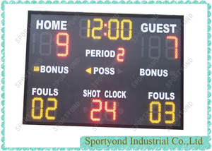 Indoor and Outdoor Basketball Electronic Scoreboard