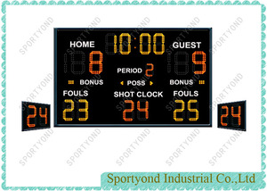 Outdoor and Indoor Electronic Scoreboard and Shot Clockfor Basketball Match