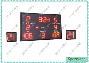 LED Wireless Basketball Scoreboard and 24 Sec Attack Clock