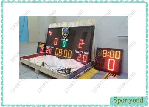 Electronic Digital Scoreboard and Shot Timer for Water Polo Game